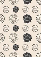 flower sunflower seamless vector pattern