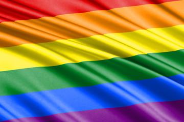 waving flag rainbow