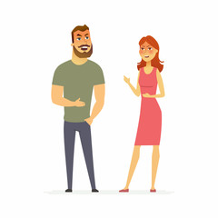 Family argument - cartoon people character isolated illustration