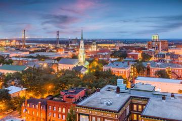 Fotomurales - Savannah, Georgia, USA Skyline