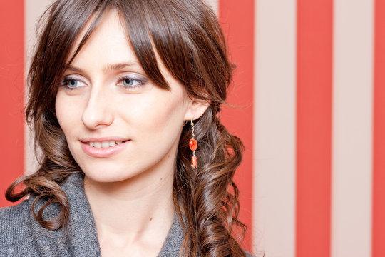 Beautiful woman portrait with jewelry
