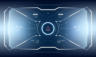 Sci-Fi Hologram Technology Hud Screen Design