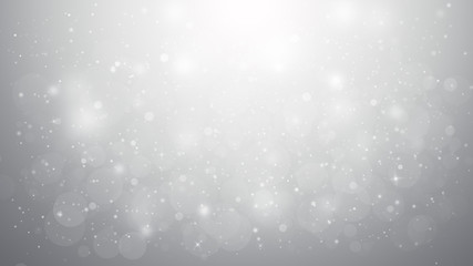 Grey glitter sparkles rays lights bokeh Festive Elegant abstract background.