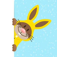 Single Easter Bunny Banner Rain