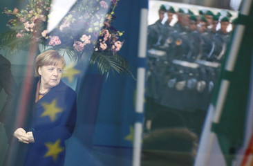 German Chancellor Merkel welcomes Ireland's Prime Minister, Taoiseach Leo Varadkar in Berlin