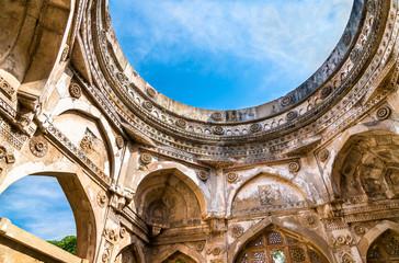Jami Masjid, a major tourist attraction at Champaner-Pavagadh Archaeological Park - Gujarat, India