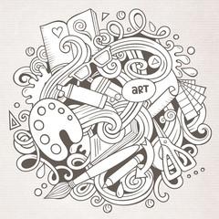 Cartoon vector doodles Art and Design illustration