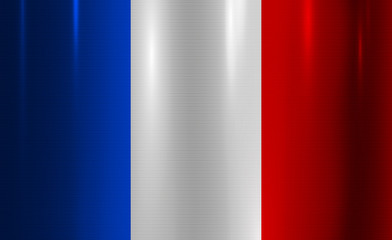 France Flag Metallic Texture Abstract Background