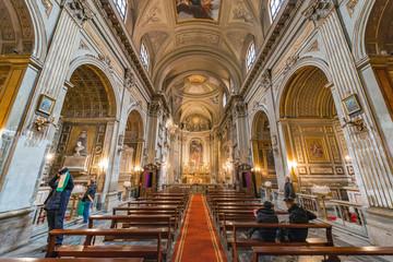 Church Santi Vincenzo e Anastasio a Trevi, Roma, Italy