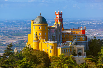 Pena Palace in Sintra - Portugal Wall mural