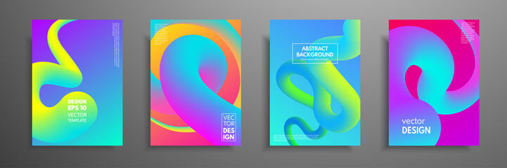 Colorful covers design set. Modern covers template design. Applicable for design covers, pentation, magazines, flyers, annual reports, posters and business cards.