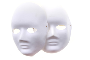 white paper masks isolated