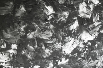 View from top to the art abstract black and white background