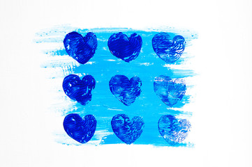 Abstract blue heart