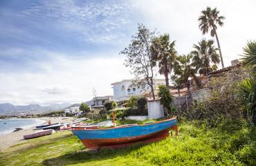 Fischerboot auf sizilien