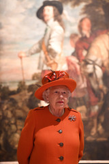 Britain's Queen Elizabeth opens the new Burlington Wing at The Royal Academy of Arts in London