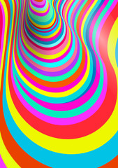 Colorful fluid curved lines background.