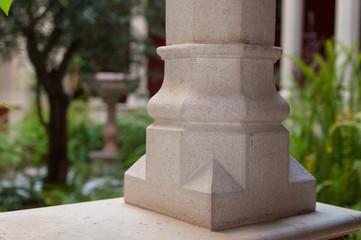 column foot in a Christian cloister