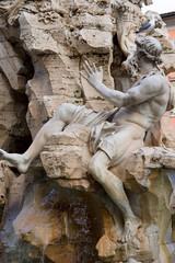 Foto op Aluminium Fontaine Fontaine des quatre rivières (fontana dei quattro fuimi), Piazza Navona, Rome