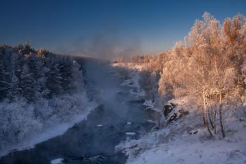Морозное утро на реке Миасс_1
