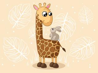 Glückliche Comic Giraffe
