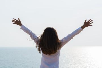 Young woman happy and joyful life.