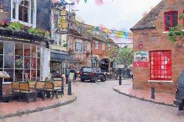 old street in Brighton, UK
