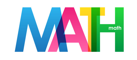 MATH COLORFUL LETTERS ICON