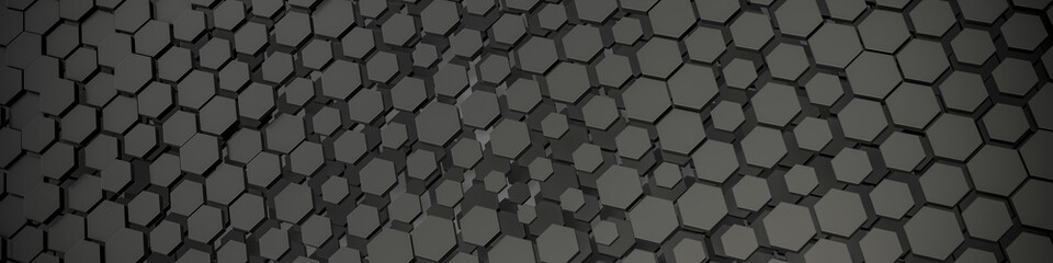 grey hexagon background