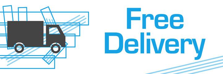 Free Delivery Blue Strokes Symbol Horizontal