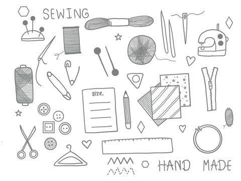 Sewing doodle set.