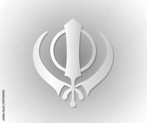 Symbol Of The Sikhs Khanda Stock Image And Royalty Free Vector