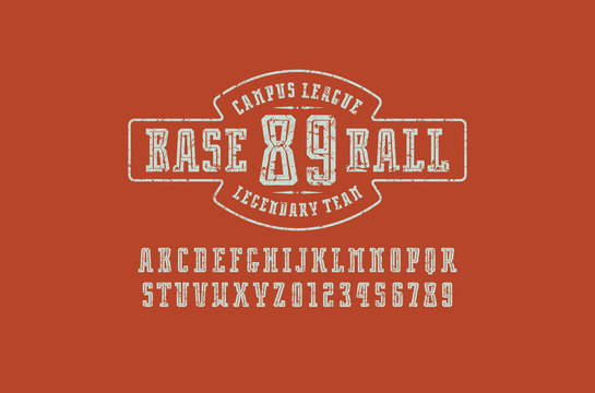 Decorative slab serif font with inner contour
