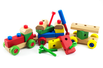 Wooden train toys, brain development, Skills Preschool
