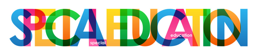 SPECIAL EDUCATION COLORFUL LETTERS ICON