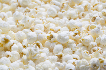 salted popcorn, texture background.