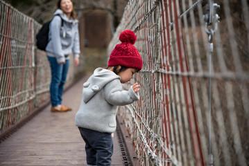 ・吊り橋・興味・赤ちゃん
