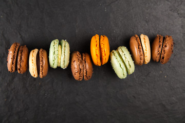 Assortment of macaron cookies