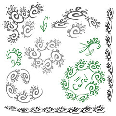 Vector curl decor for card