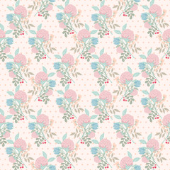 Spring flower seamless pattern