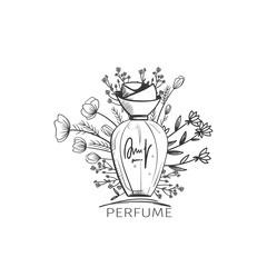 Fashion sketch of perfume bottle