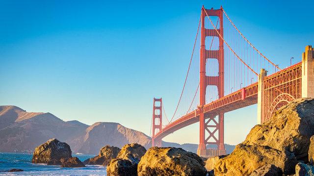 San Francisco Beach View At Golden Hour