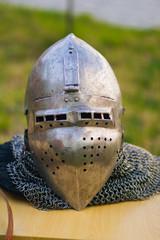 knightly medieval helmet