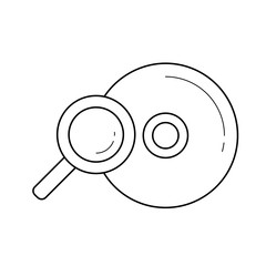 Compact disk vector line icon isolated on white background. Compact disk line icon for infographic, website or app. Scalable icon designed on a grid system.