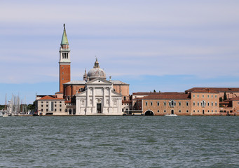 Venice Italy Saint George Church and the Giudecca Canal with bell tower