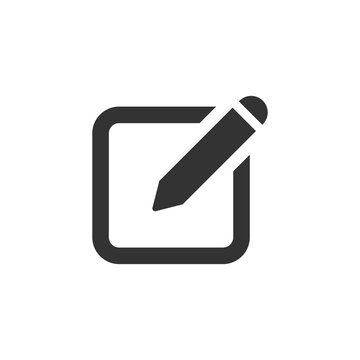 Notepad edit document with pencil icon. Vector illustration. Business concept note edit pictogram.