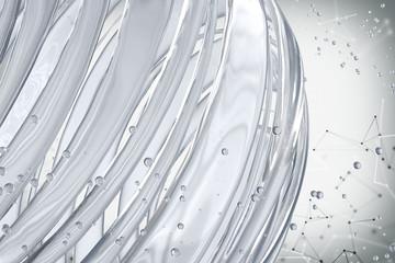 3D striped decorative balls. Abstract 3d illustration. Glass