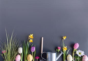 Easter garden background