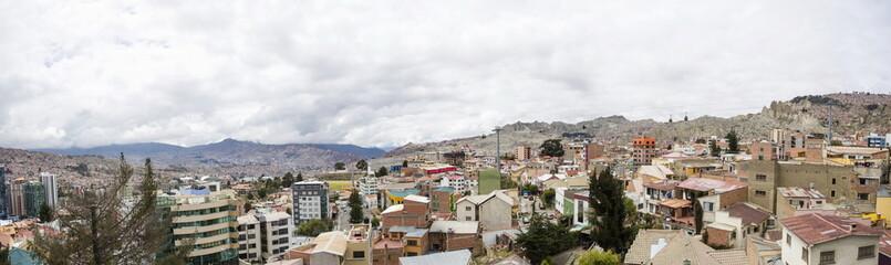 Aerial view at La Paz, Bolivia