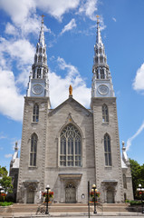 Cathedrale Notre Dame in downtown Ottawa, Ontario, Canada.